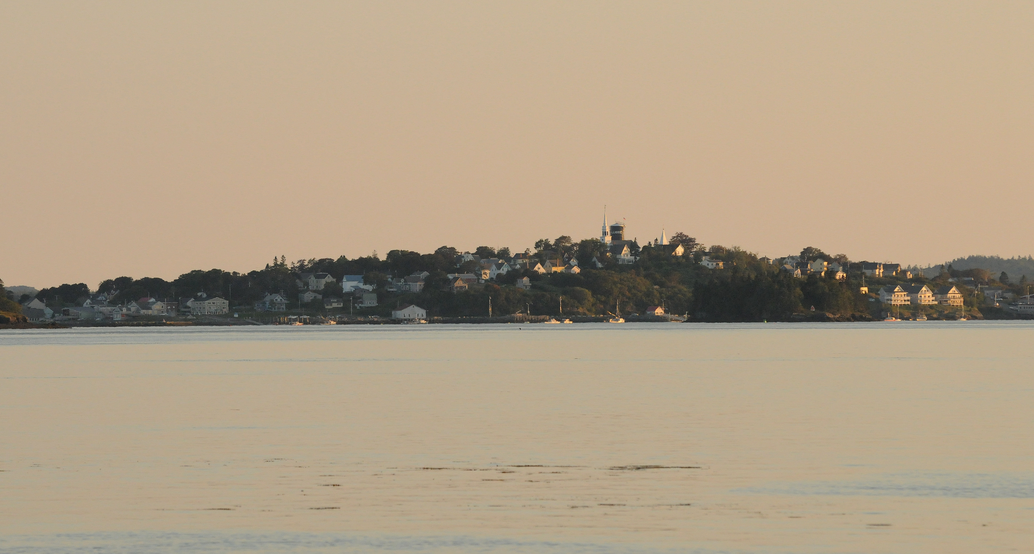 Lubec, maine, at sunset