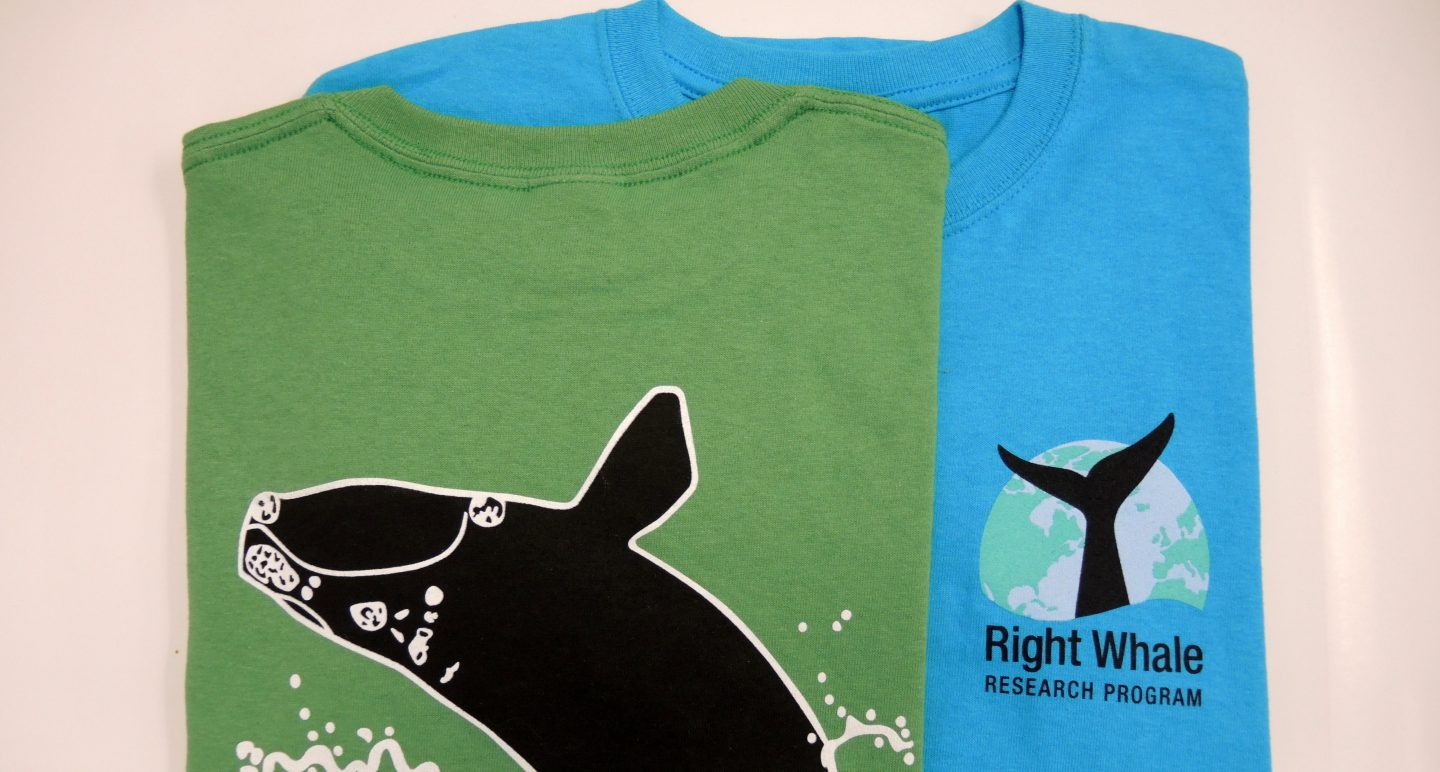 north atlantic right whale t-shirts