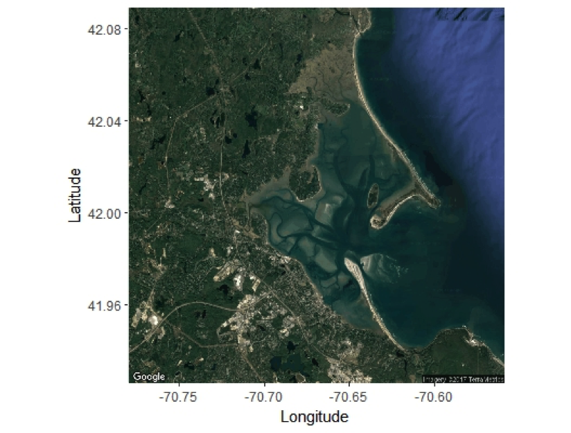 satellite map of duxbury harbor