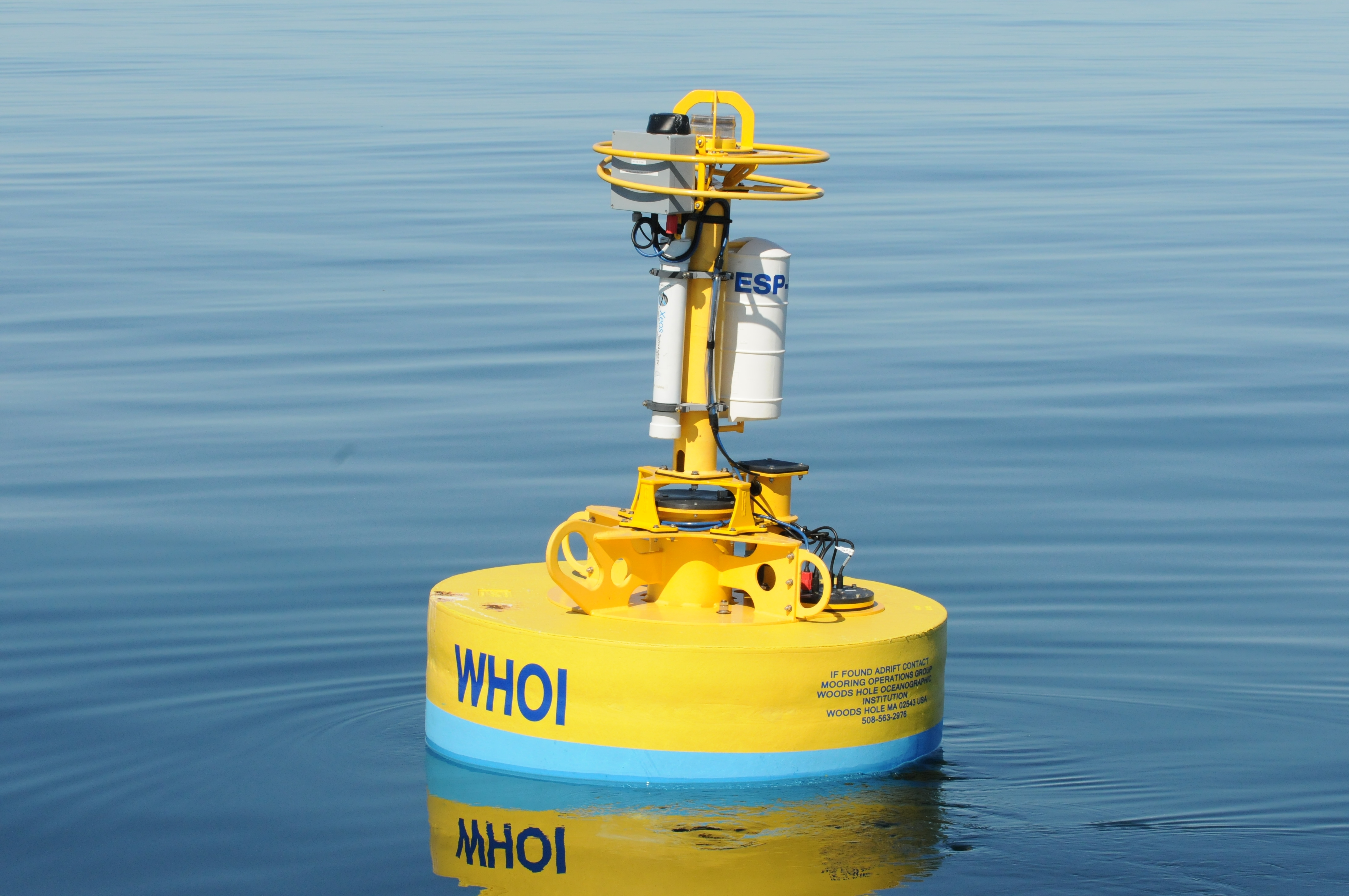 woods hole oceanographic institution buoy in bay of fundy