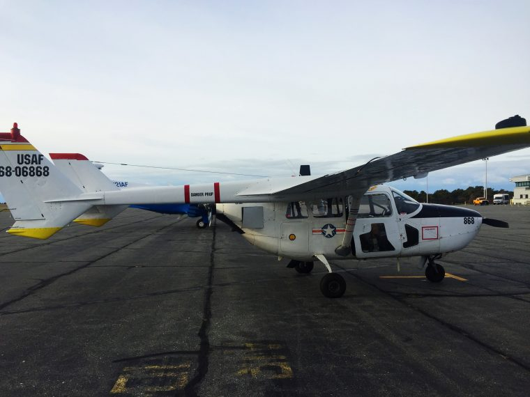 Survey plane refueling at Nantucket Municipal Airport