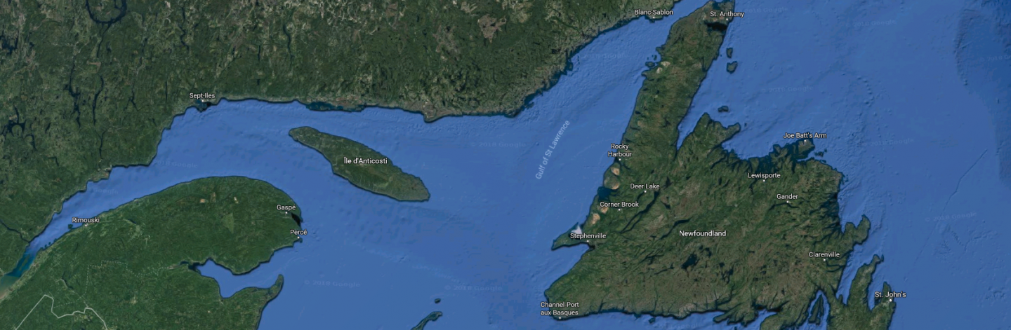 Map of Gulf of St. Lawrence.