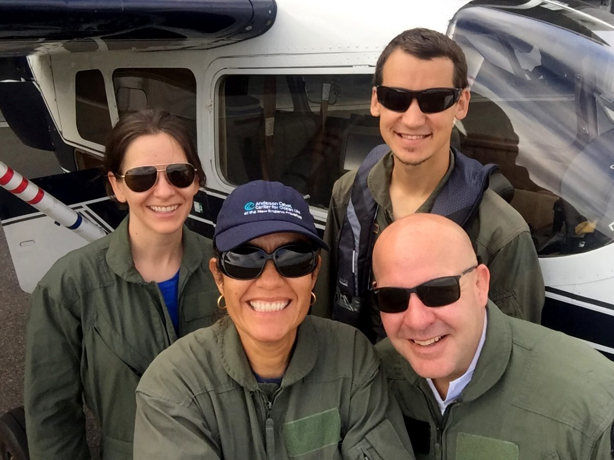 The NEAQ Aerial survey team.
