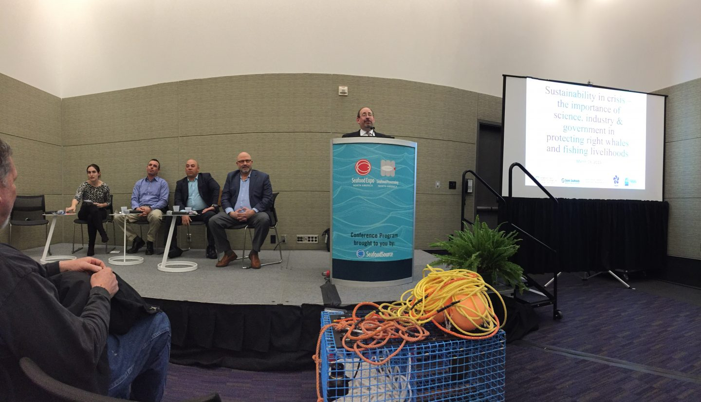 Panel members at the Boston Seafood Expo 2019.