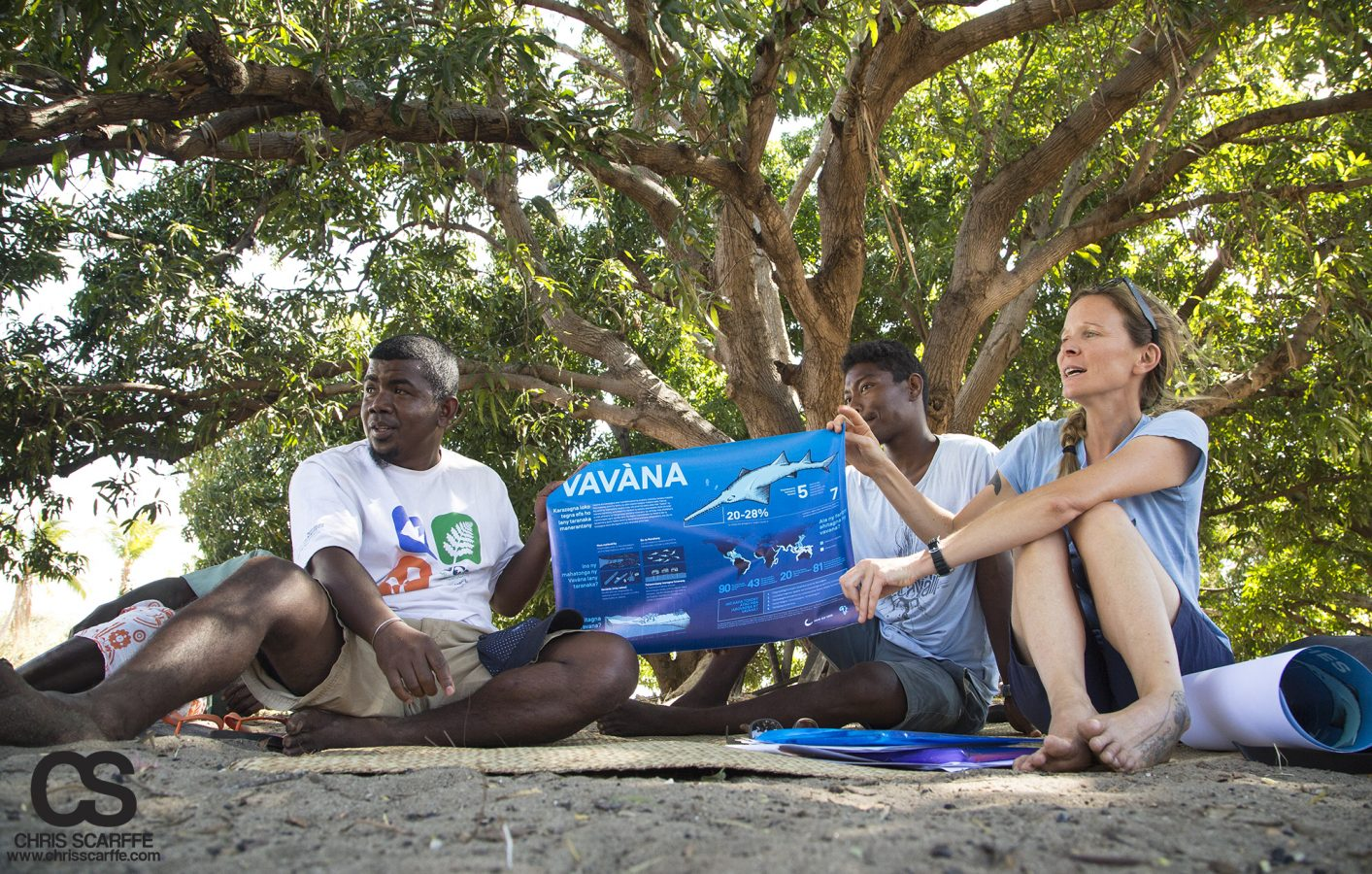 Ruth engages local communities on endangered sawfish.