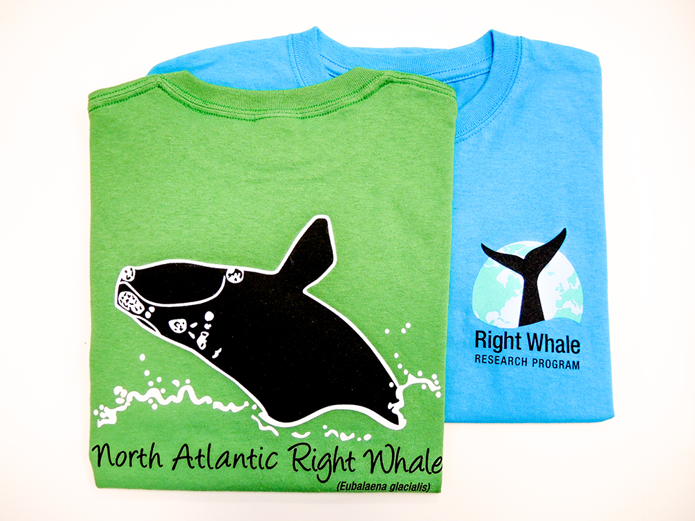 Right whale sponsorship T-shirts